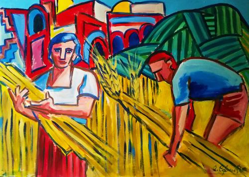 Mietitura del grano - Alessandro Colonnetta