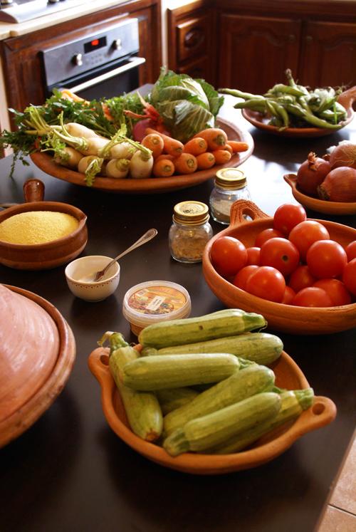 Ingredienti per la preparazione del couscous marocchino